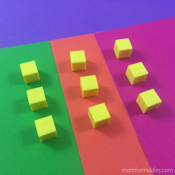 base ten blocks math facts