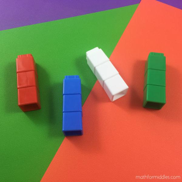 unifix cubes math facts