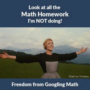 Freedom from helping my middle schooler with homework! mathformiddles.com