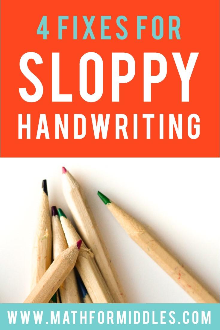 Sloppy Handwriting