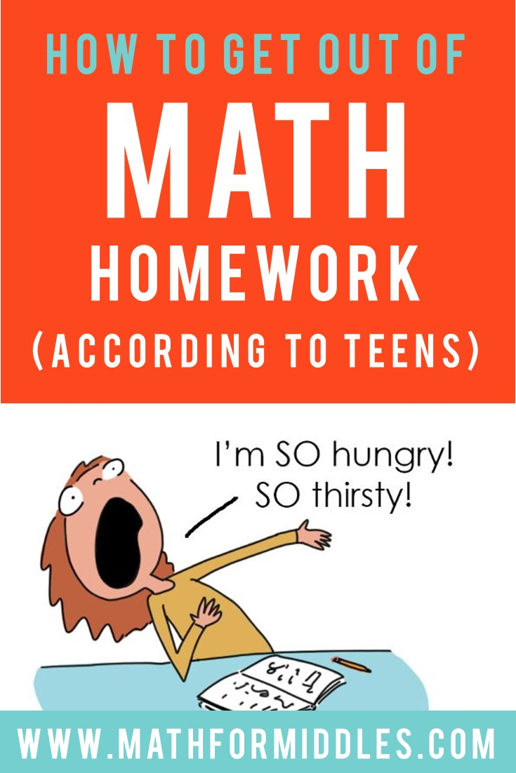 6 Ways to Get Out of Math Homework, According to Kids