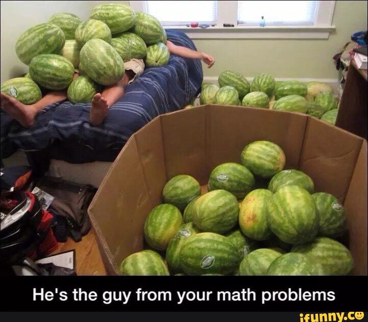 Actual watermelon math problem that you can solve! madeformath.com/math-test-tips