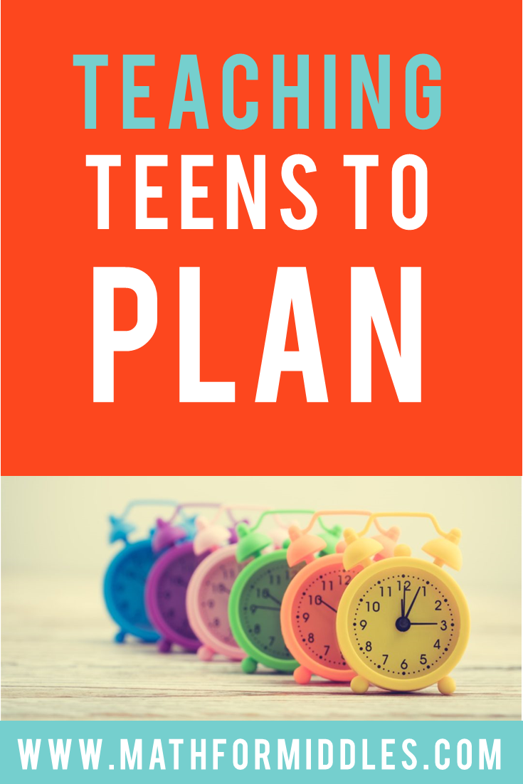 Teaching Teens to Plan