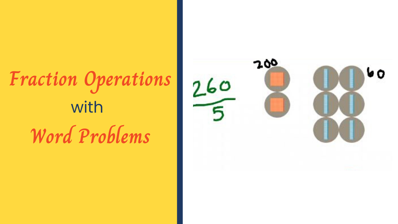 Fraction operations and Word Problems: 5 EASY STEPS