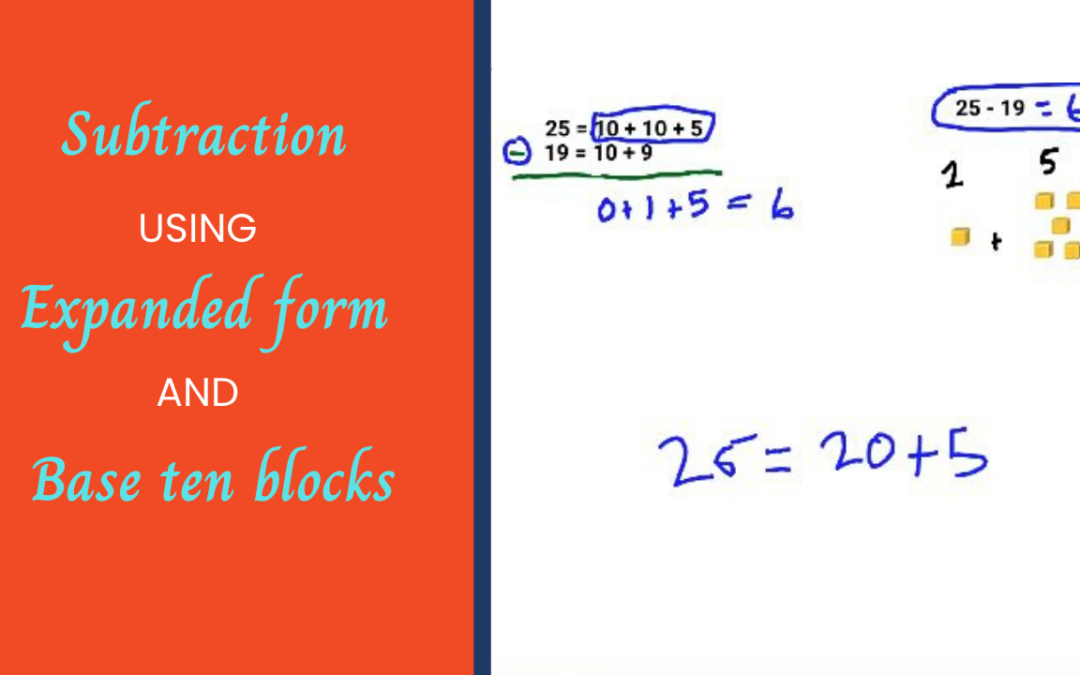Subtraction Using Expanded Form and Base Ten Blocks