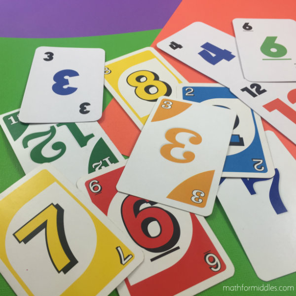 Playing cards math facts
