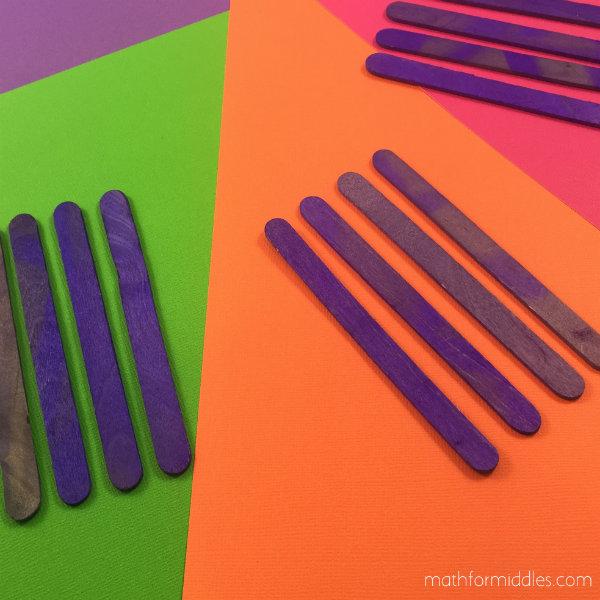 craft sticks math facts