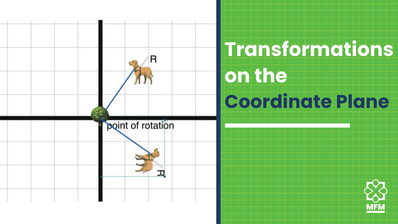 Three REAL LIFE transformations on a coordinate plane