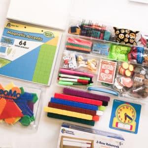 Multisensory math tutoring kit
