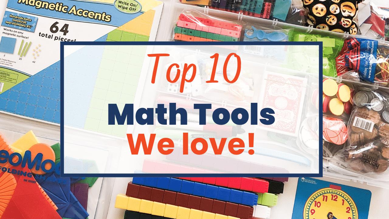How to be manipulative: 10 TOOLS (math manipulatives) every math student needs