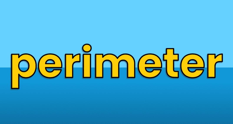 Math Vocabulary: Perimeter